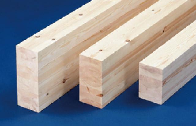 理由その1-強度が高く品質の安定した「構造用集成材」を採用している